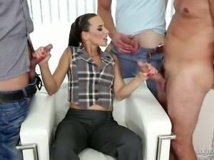 Experienced Mia Melone gangbanged hardcore