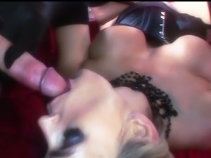 Enjoy super hot erotic scene with yummy blond filth Tanya Tate right now