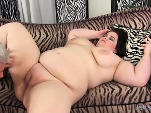Chunky and lustful brunette with a huge ass is a sucker for hard meat
