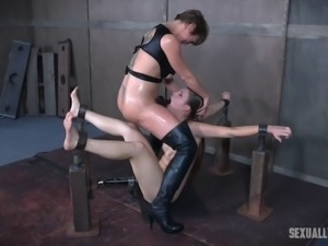 Nora Riley treated like a bad girl during a great BDSM game