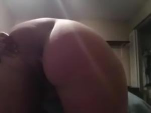 Big Tit BBW Pissing on the Bedroom Floor