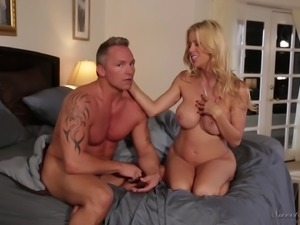 Alexis Fawx enjoys chatting with her partner after a shag