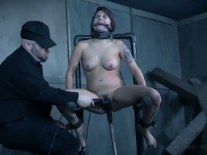 Restrained Raquel Roper toy fucked intensively in hardcore video