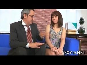 Hardcore drilling from teacher