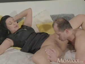 MOM Squirts her delicious pussy juices over him as he fingers her g-spot
