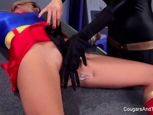 Bondage & roleplay with two super hot blondes