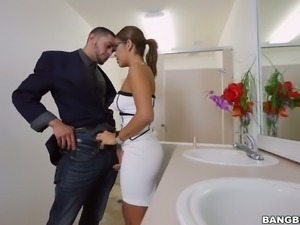 Desirable Mia Marinez nailed hard in a missionary position