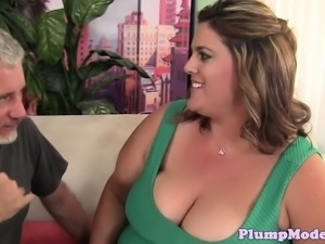 SSBBW with massive tits jizzed after sex