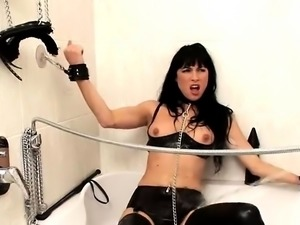 3-13-2017 - Beautiful fetish anus actions with latex and bds