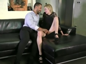 slutty blonde goes to porn