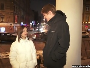 Beautiful Dasha gets fucked by her boyfriend on a table