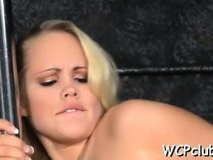 Holes receive licked and gangbanged previous to the camera