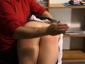 Schoolgirl  Bare-Bottom Spanking