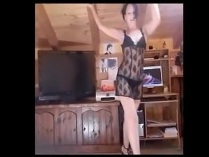 Sensual strip. This babe knows how to dance sexy