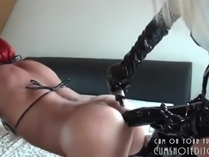 Man Fucked With A Black Monster Strapon
