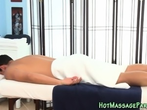 Smalltits masseuse sucks
