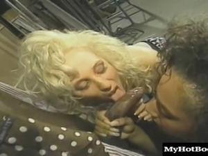 Black stud gets to fuck a couple of dick craving ladies