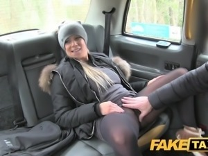 Fake Taxi Lady wants drivers cock to keep her warm