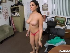 Naughty and nasty Latina with big tits get fucked by hard white cock