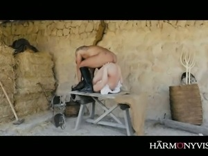 Insatiable blond haired MILF in black boots Dahlia Sky gets wild with kinky...