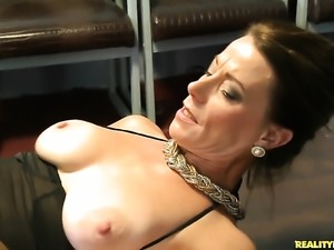 Sean with bald cunt milks man meat with her hot mouth