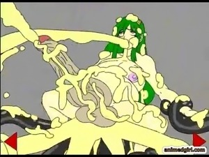 Bigcoock 3D anime shemale tentacles fucked