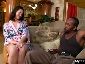 Ebony babe joins her friend in shagging a black stallion