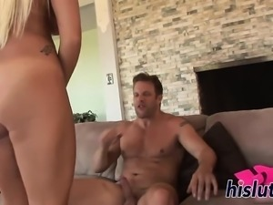 Blonde stripper gets her orgasmic pussy nailed