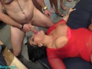 extreme wild german bukkake gangbang orgy with monster boob babe Ashley Cum Star