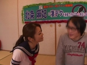 Maki Hojo is a skillful girl who loves playing with a dick