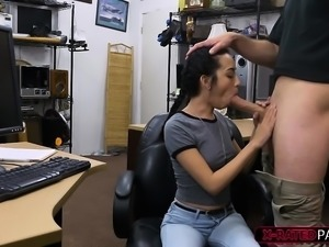 Petite and round ass Kiley Jay gets fucked by Shawn