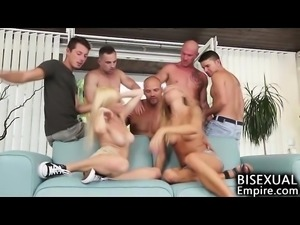 Bisexual Cum Party Orgy!