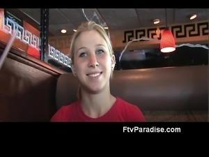 FTV Alanna awesome blonde babe public flashing tits