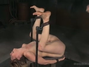 Horny bondage master loves nothing more than punishing his slaves