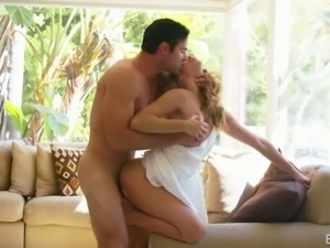 Fabulous and sensuous blonde sexy girl sucks dick and has passionate sex with...