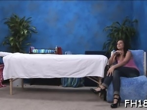 Teen gal receives bawdy cleft fingered after giving a head