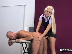 Sweeties screw dudes anal with huge strapons and squirt load