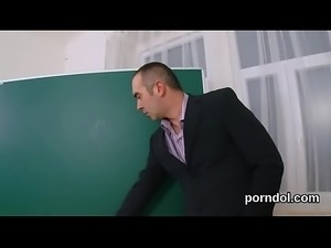 Sultry schoolgirl is seduced and nailed by her elder lecturer