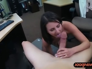 Customers wife smashed by horny pawn guy at the pawnshop