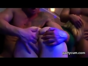 Wacky nymphos get absolutely mad and nude at hardcore party