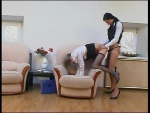 LEZDom Strap on pantyhose 4