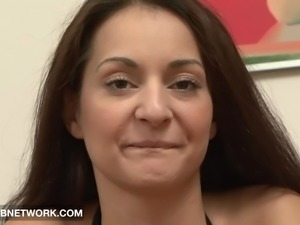 Interracial Fuck for Babe in POV sucks big black cock