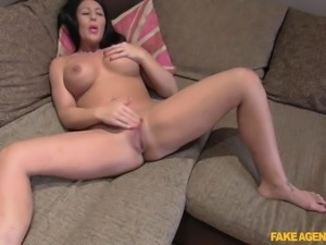 busty candi sucks dick on camera