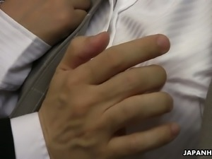 Chiharu Nakai is have a hot no-strings attached sex with her colleague