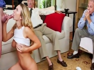 Old blonde mature and bearded man Molly Earns Her Keep