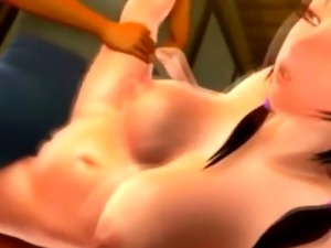 3D Big Breasted Teen Gets a Creampie!
