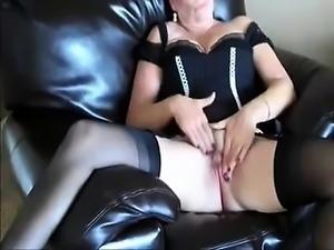 Compilation of masturbation in fishnet stockings