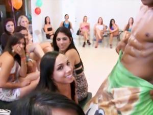 CFNM Blowjob Orgy With Beautiful Girls
