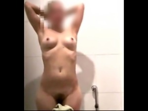 Spy Cute Female After Shower