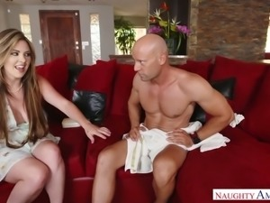 Trashy coed Alice Lighthouse loves couch sex and she exudes sexual magnetism